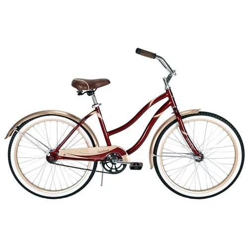 Huffy 24quot Cranbrook Women39s Cruiser Bike Red Walmartcom