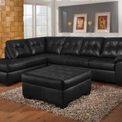 Simmons Reversible Chaise Sofa Toddler Bed Chair Simple Relax Usa Shi Tufted Sectional Right Onyx Leather Aire Ottoman Walmart Com