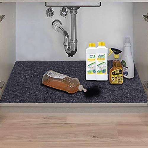 mainstays under the sink mat waterproof cabinet protection durable non adhesive absorbent organizer mats strong shelf liners for below kitchen