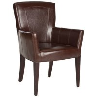 Safavieh En Vogue Dining Dale Brown Arm Chair - Walmart.com