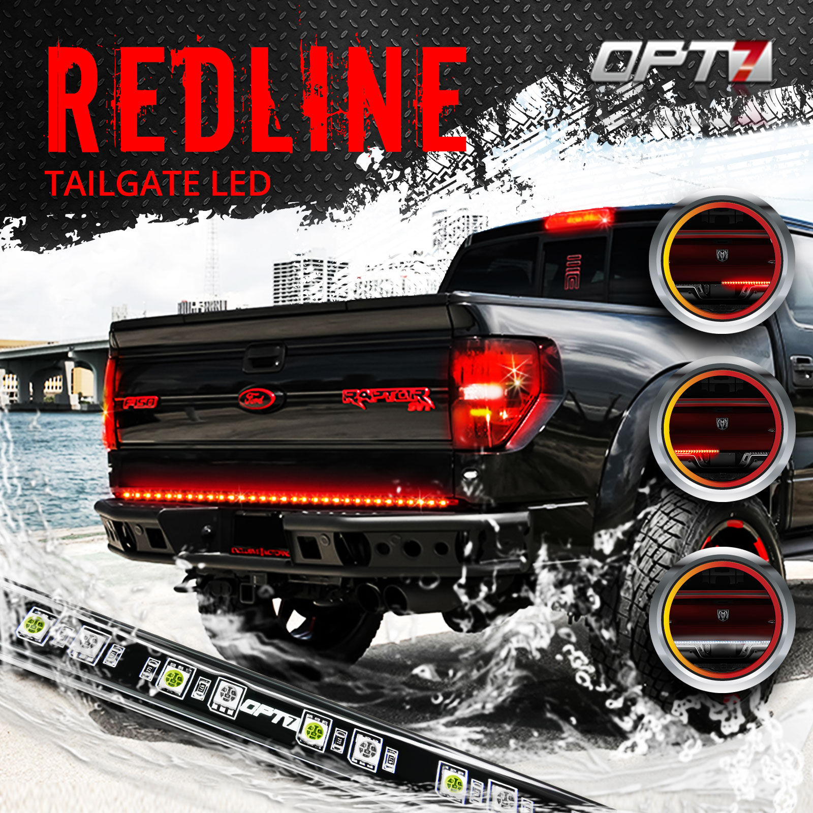 60 redline led tailgate light bar tri core led weatherproof led light circuit diagram opt 7 led light bar wiring diagram for truck [ 1600 x 1600 Pixel ]