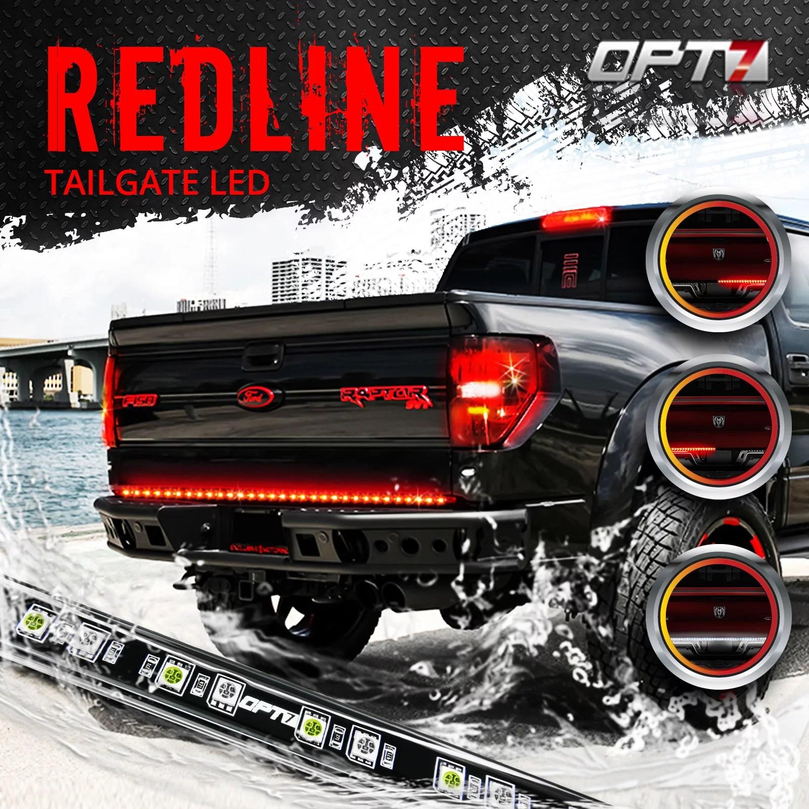 medium resolution of 60 redline led tailgate light bar tri core led weatherproof led light circuit diagram opt 7 led light bar wiring diagram for truck