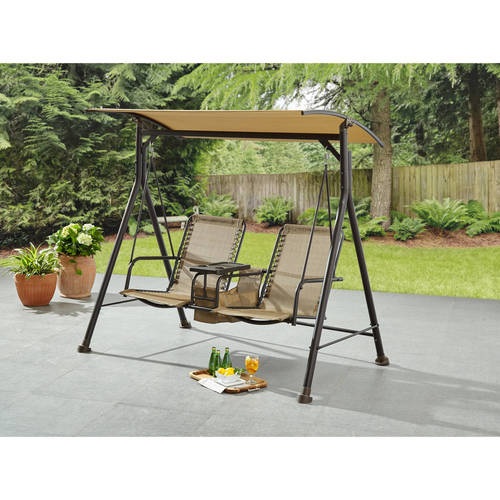 Mainstays Big and Tall 2Person Bungee Canopy Porch Swing