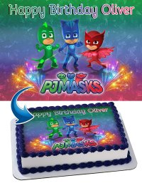 PJ Mask Edible Cake Image Personalized Toppers Icing Sugar ...