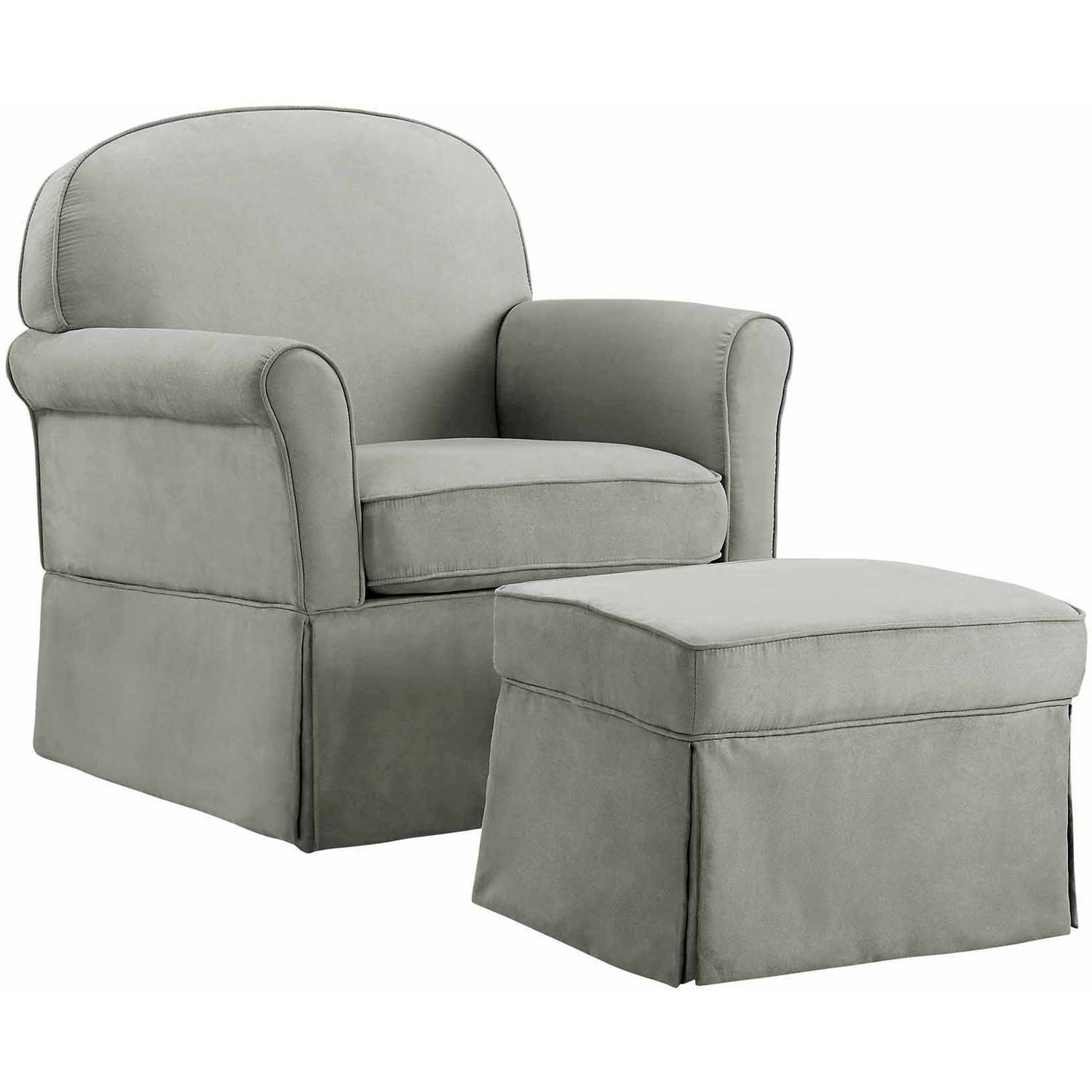 Baby Nursery Chairs Baby Relax Evan Swivel Glider And Ottoman Gray