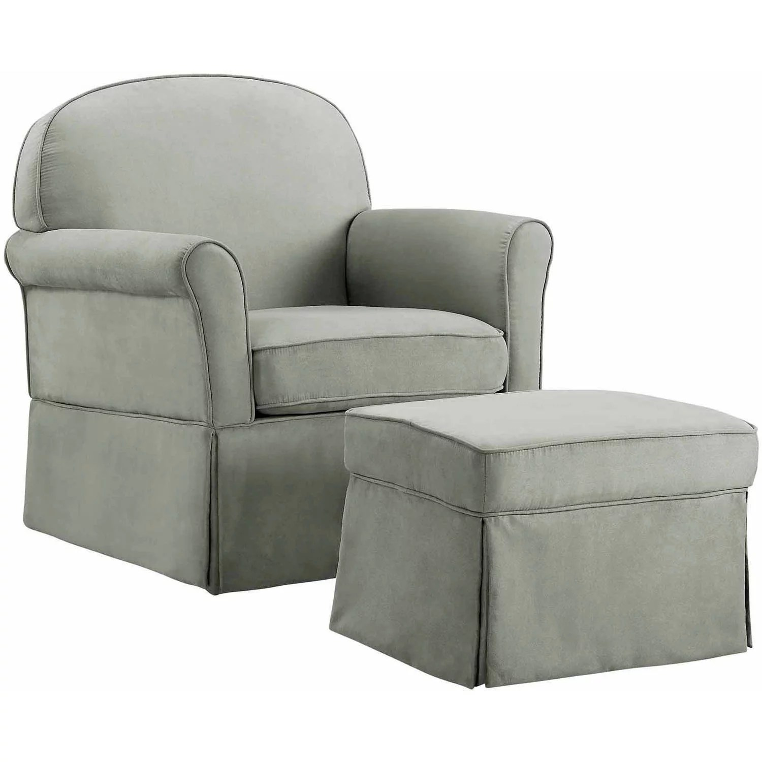 rocker glider chair rattan two chairs and table baby relax evan swivel ottoman gray walmart com
