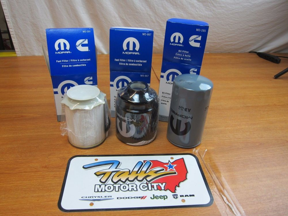 medium resolution of 2013 2018 dodge ram 6 7l cummins diesel fuel filter engine oil filter set oem walmart com