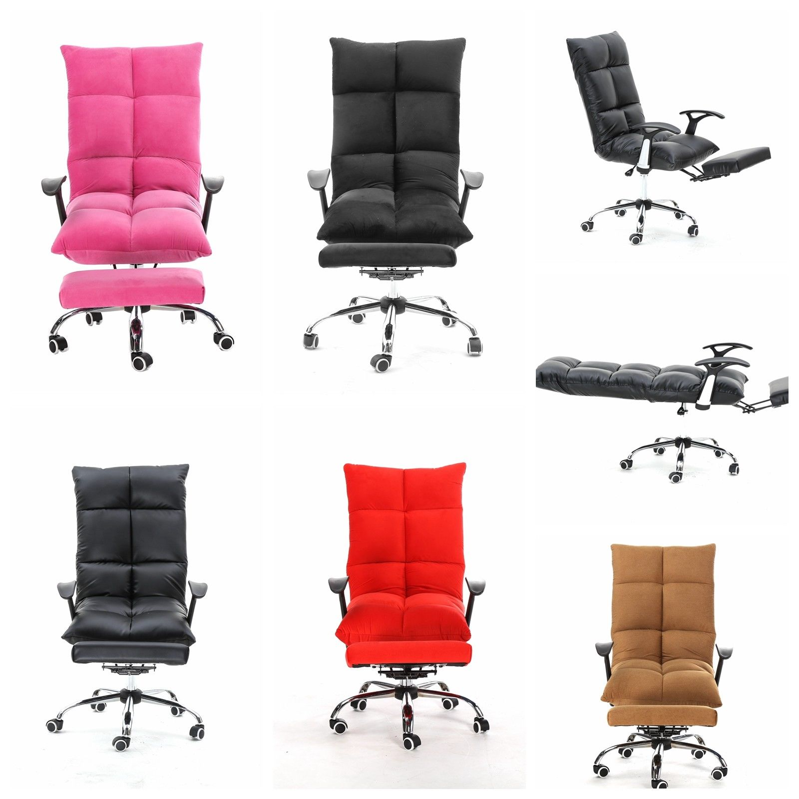 add on headrest for office chair the cheap covers folding chairs 5 position mul functional tatami home computer desk with adjustable footrest lay flat pink walmart com