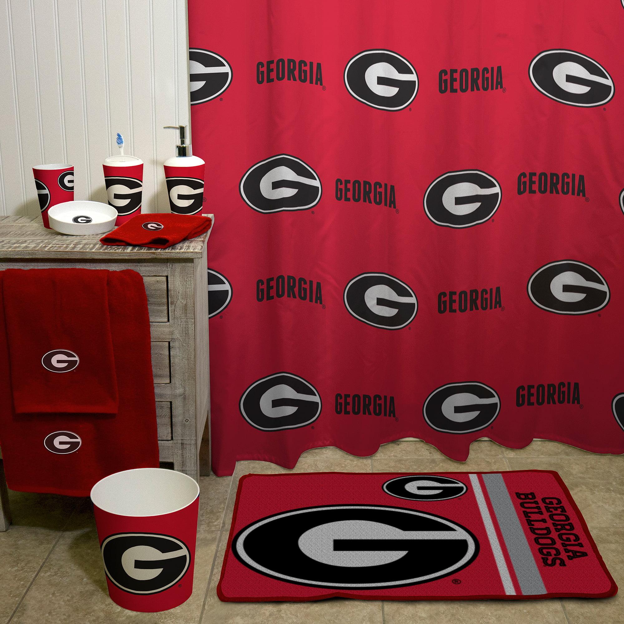 NCAA University Of Georgia Decorative Bath Collection Shower