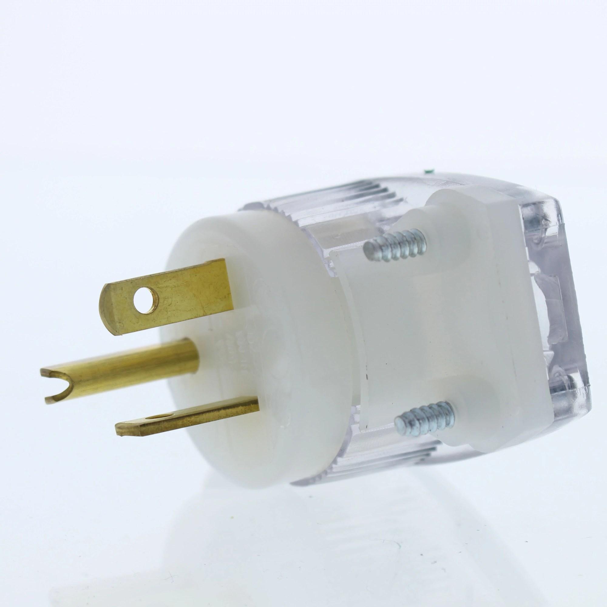hight resolution of cooper wiring devices 6865hgc straight blade plug angle hg 20a 250v 2p3w walmart com