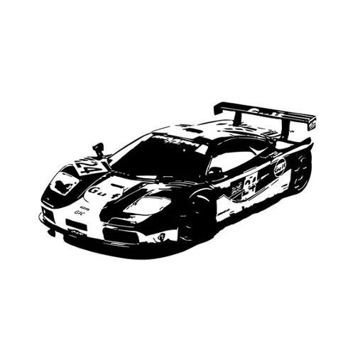 Vsgraphics llc McLaren Speeding Car Vinyl Wall Decal