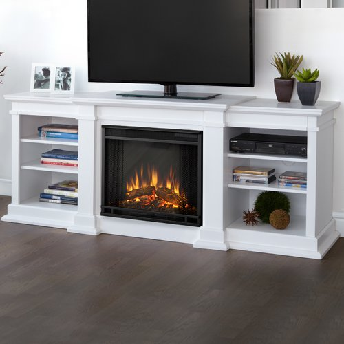 Real Flame Fresno 72'' TV Stand with Fireplace