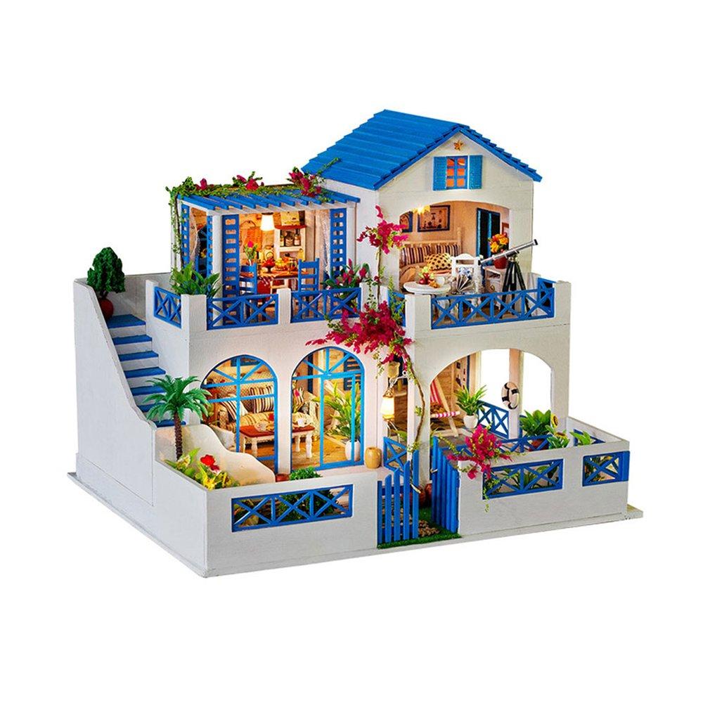 big villa dollhouse 3d miniature