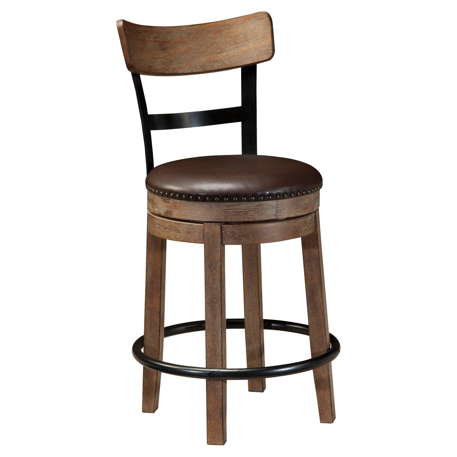 counter height chair travel beach umbrella signature design by ashley pinnadel wood stools walmart com