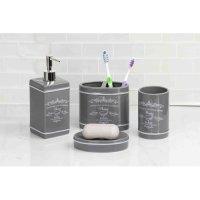 Home Basics Paris 4-Piece Bathroom Accessory Set - Walmart.com