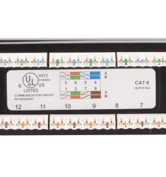 monoprice 24 port cat6 patch panel 110 type 568a b compatiblemonoprice 24 port cat6 [ 1200 x 900 Pixel ]