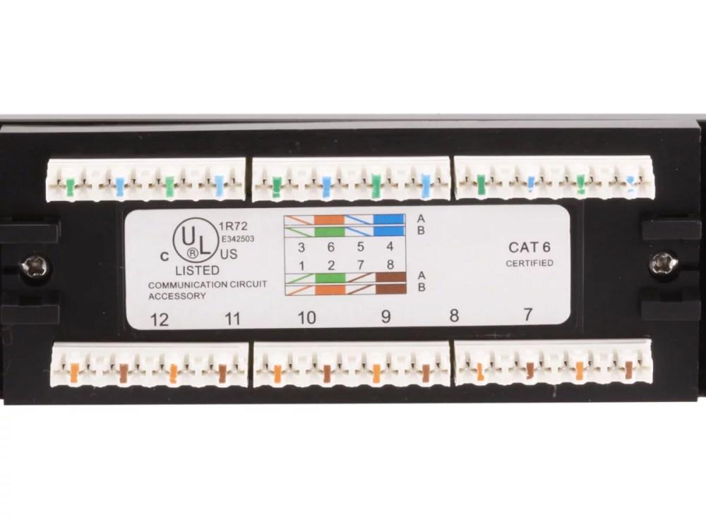 medium resolution of monoprice 24 port cat6 patch panel 110 type 568a b compatiblemonoprice 24 port cat6