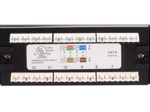 small resolution of monoprice 24 port cat6 patch panel 110 type 568a b compatiblemonoprice 24 port cat6