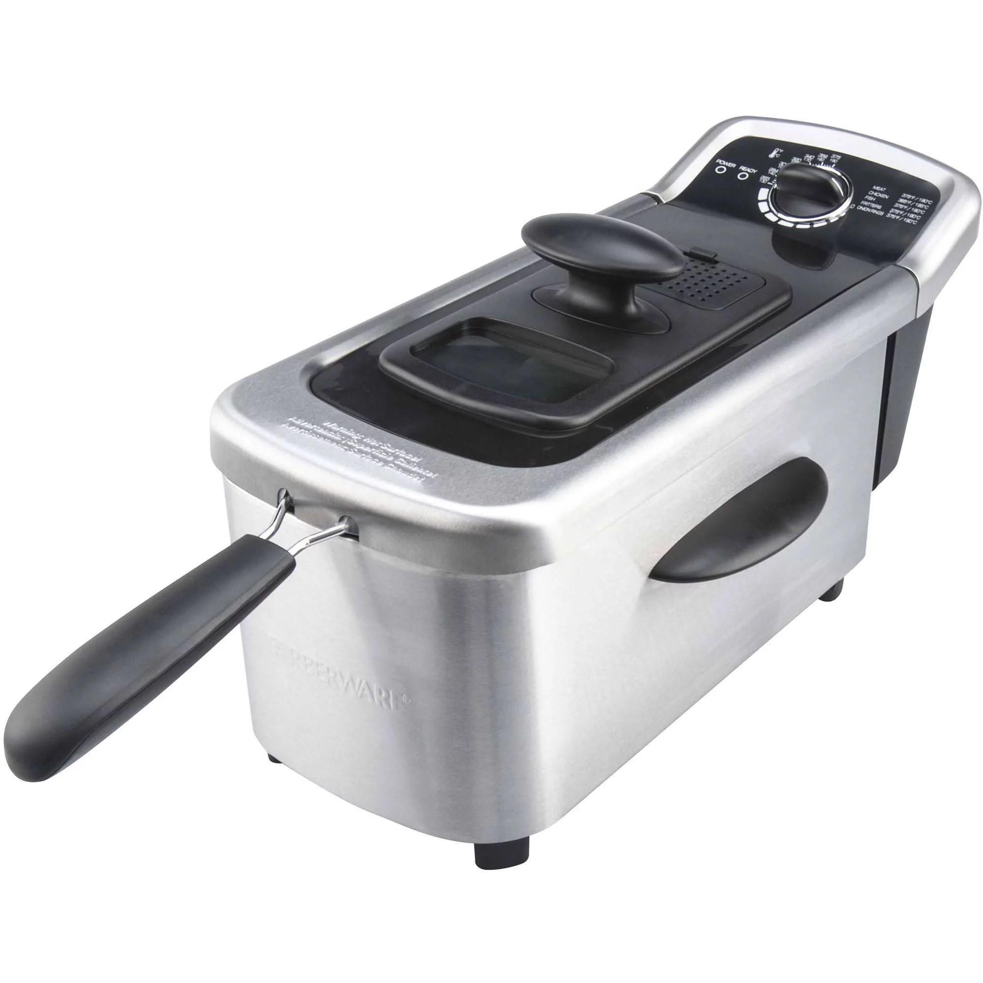 kitchen fryer most popular cabinets presto 05411 granpappy electric deep walmart com