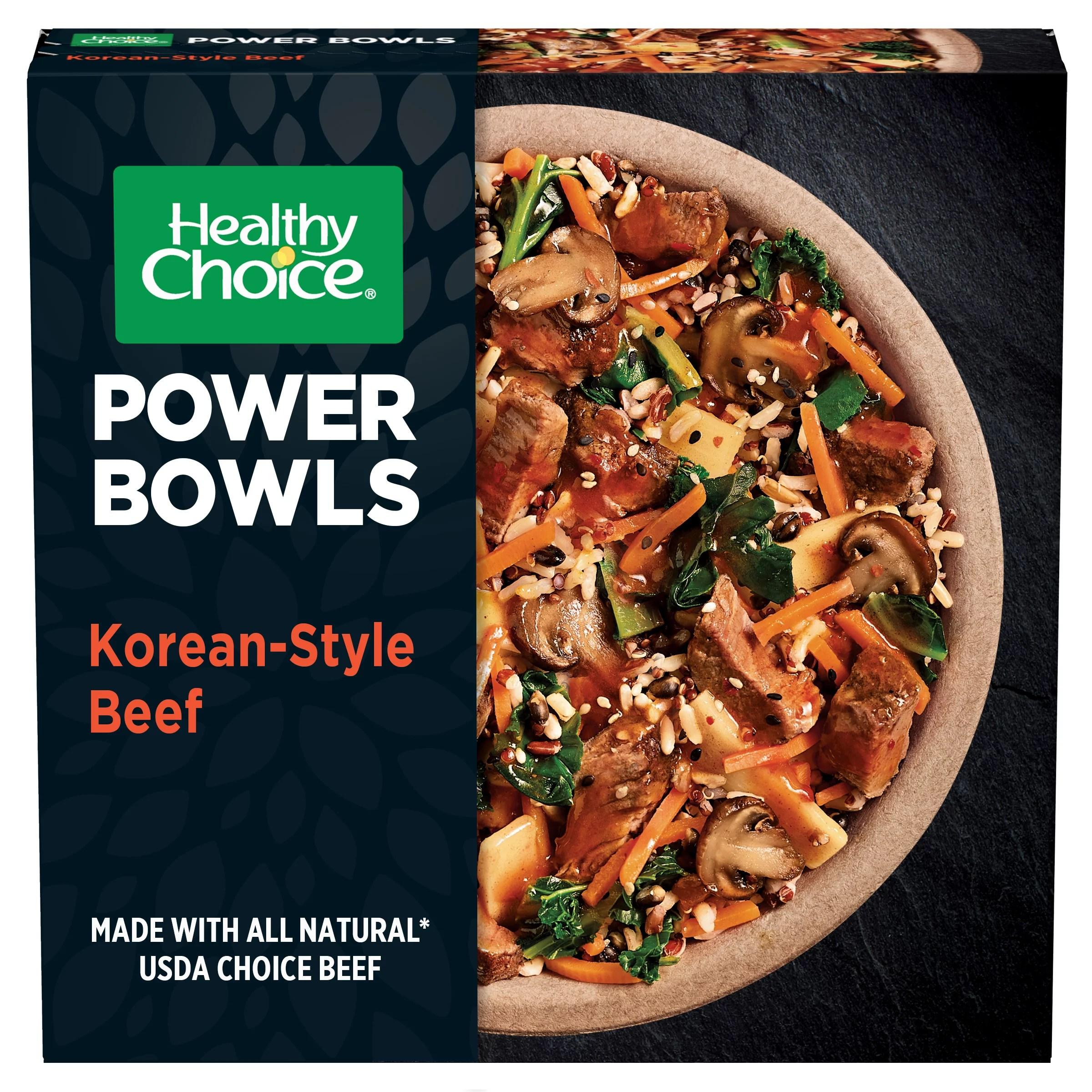 healthy choice power bowls korean inspired beef frozen meals 9 5 oz walmart com