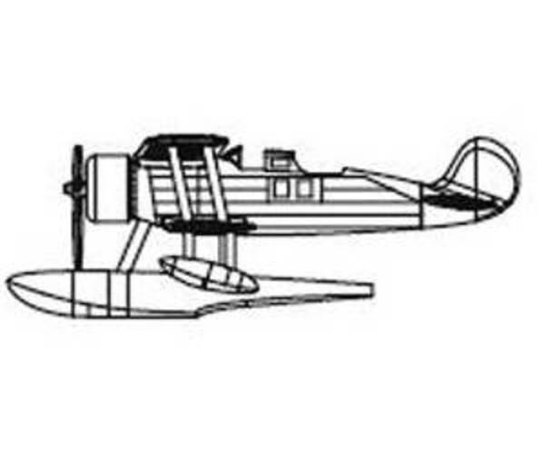 TRUMPETER 6208 1/350 IMAM Ro.43 Italian Recon Seaplane Set