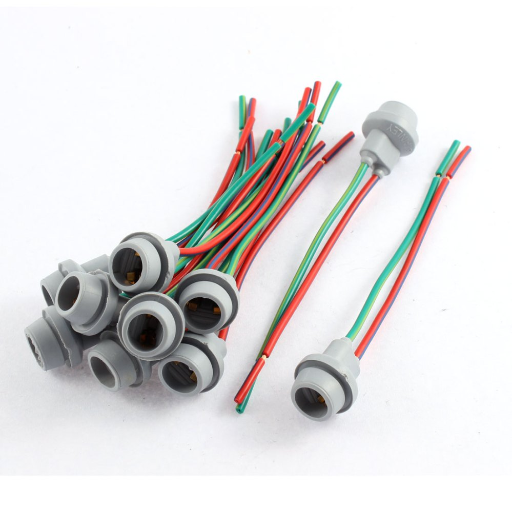 medium resolution of car w5w t10 194 168 light socket lamp holder wire harness connector 10 pcs walmart com