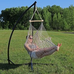 Rope Chair Swing Gym Ebay Sunnydaze Hanging Cotton Hammock And X Stand Set Natural For Indoor Or Outdoor Use Max Weight 250 Pounds Walmart Com