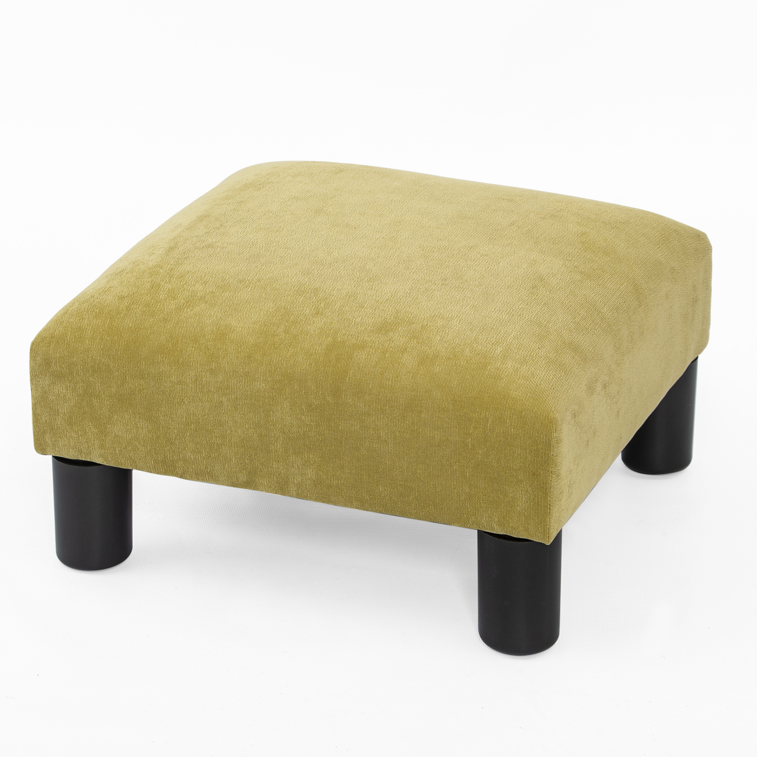 joveco small ottoman with wood legs footstool footrest geometric art y sage green velvet fabric