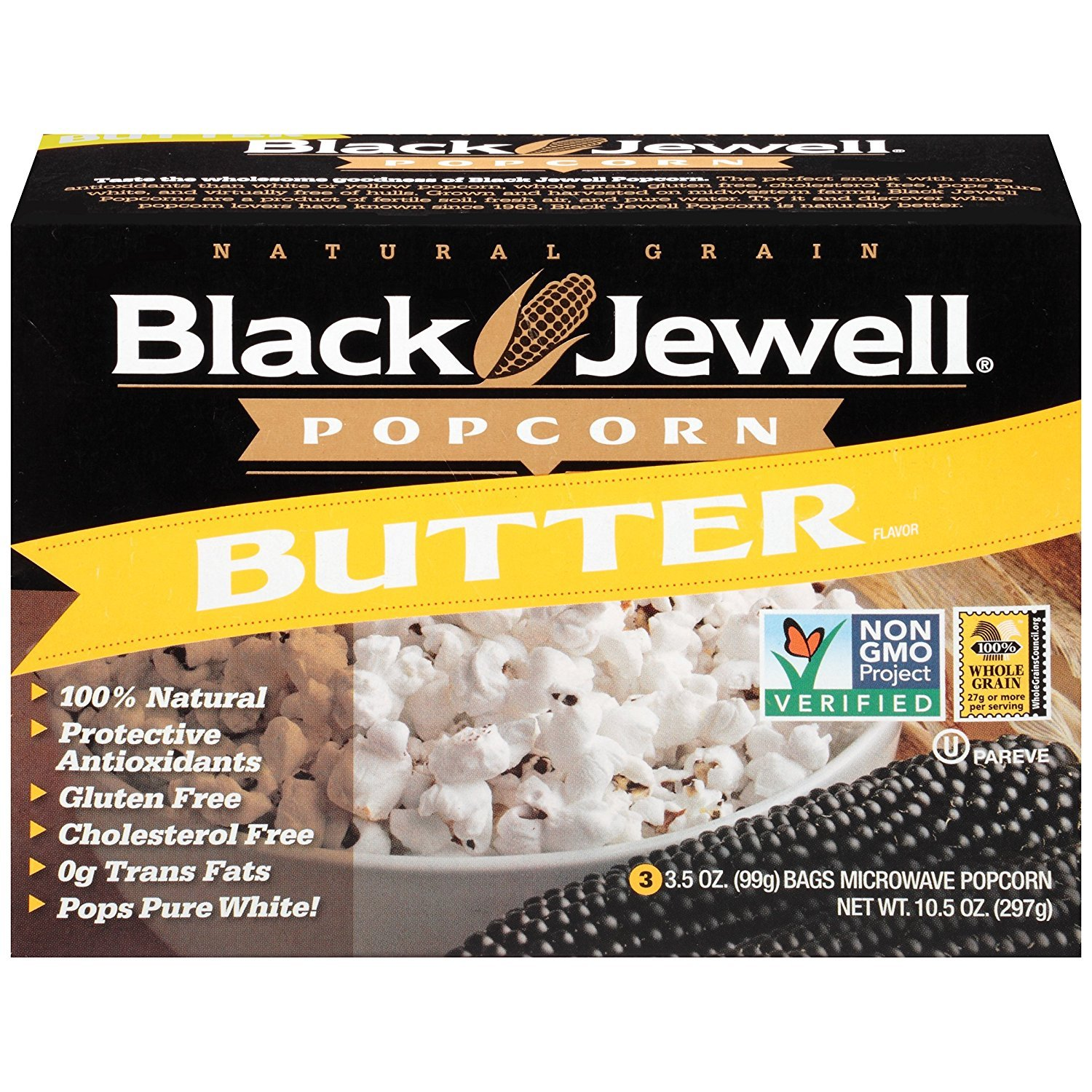 black jewell butter microwave hulless popcorn 10 5 ounces pack of 1 walmart com