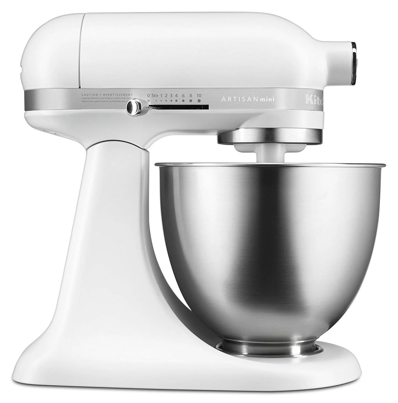 kitchen mixer anti fatigue mats kitchenaid rksm3311xfw mini series tilt head stand 3 5 quart matte white certified refurbished walmart com