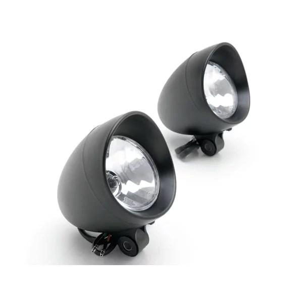 krator custom black passing fog auxiliary light for harley davidson street glide