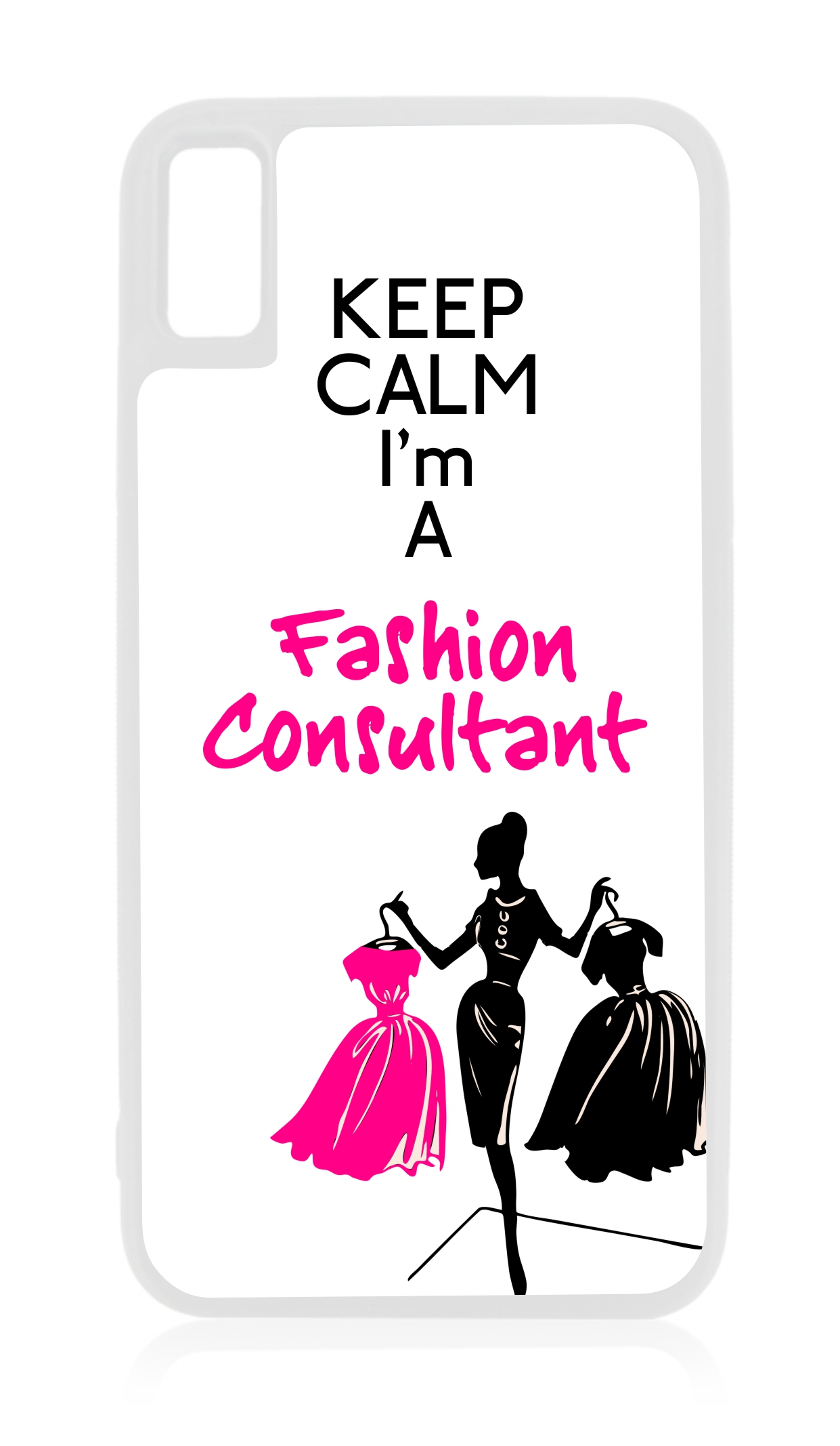 Keep Calm Im a Fashion Consultant  Job Career Gift White TPU Case Cover That is Compatible