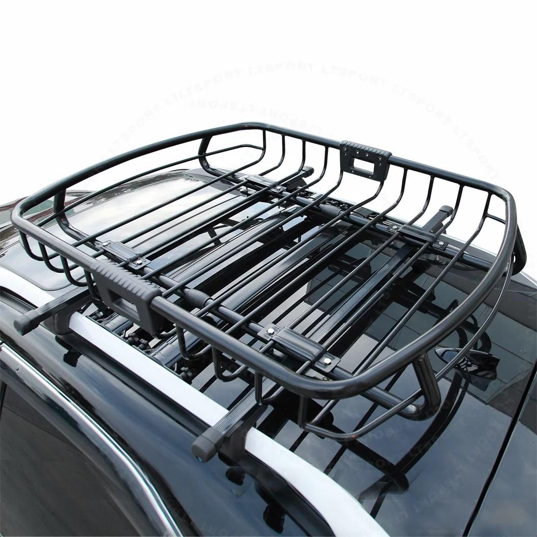fit volkswagen top steel black roof rack cargo luggage carrier basket
