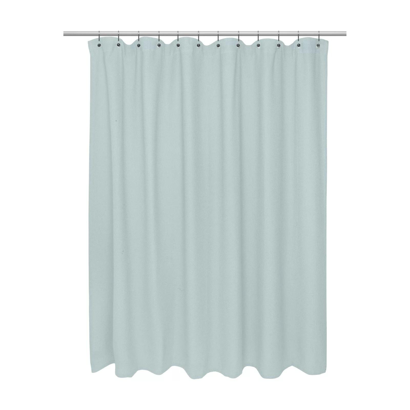 extra long size 100 cotton waffle weave shower curtain spa blue walmart com