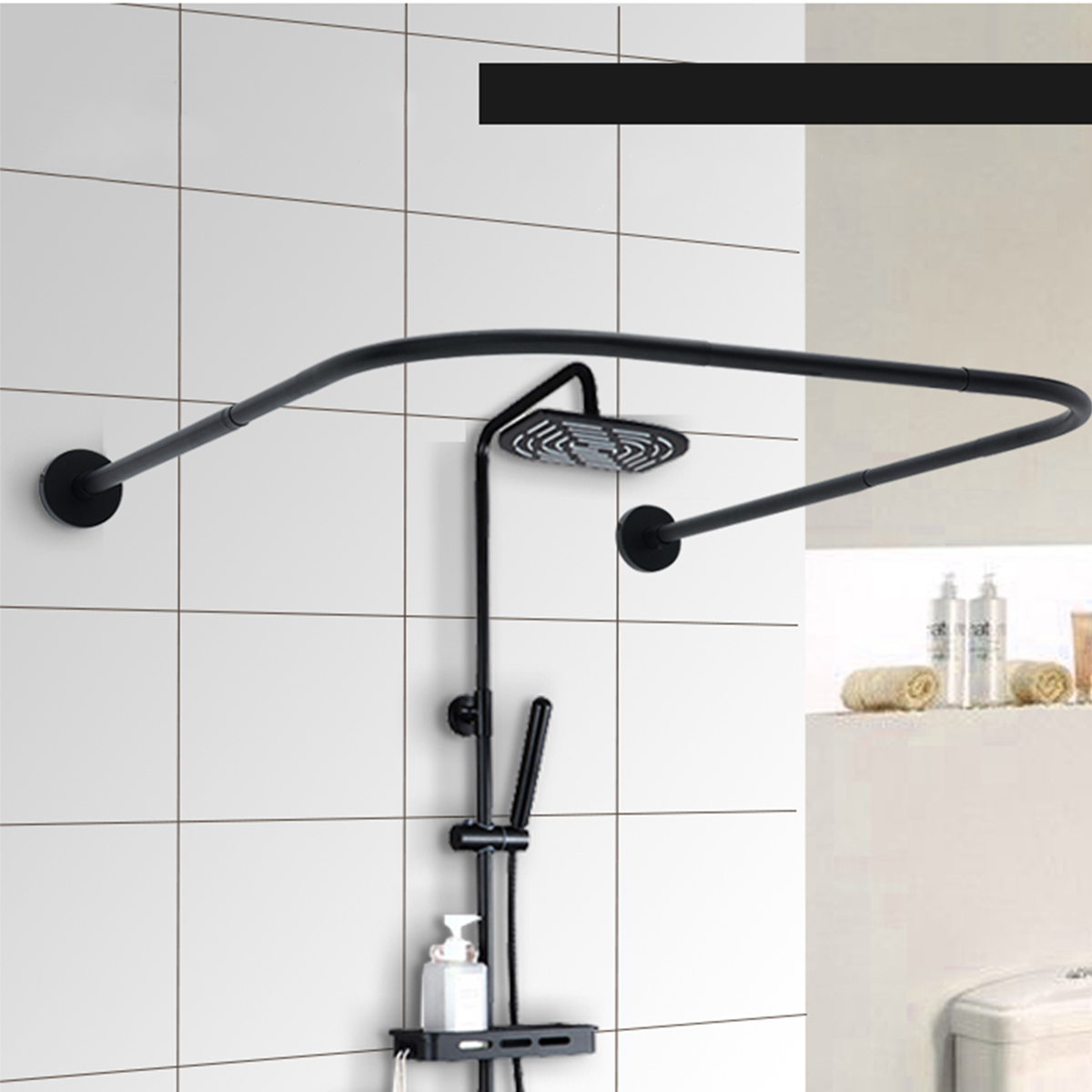 curved shower rods walmart com