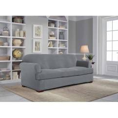 2 Cushion Sofa Sure Fit Covers Video Serta Stretch Grid Slipcover Piece T Walmart Com