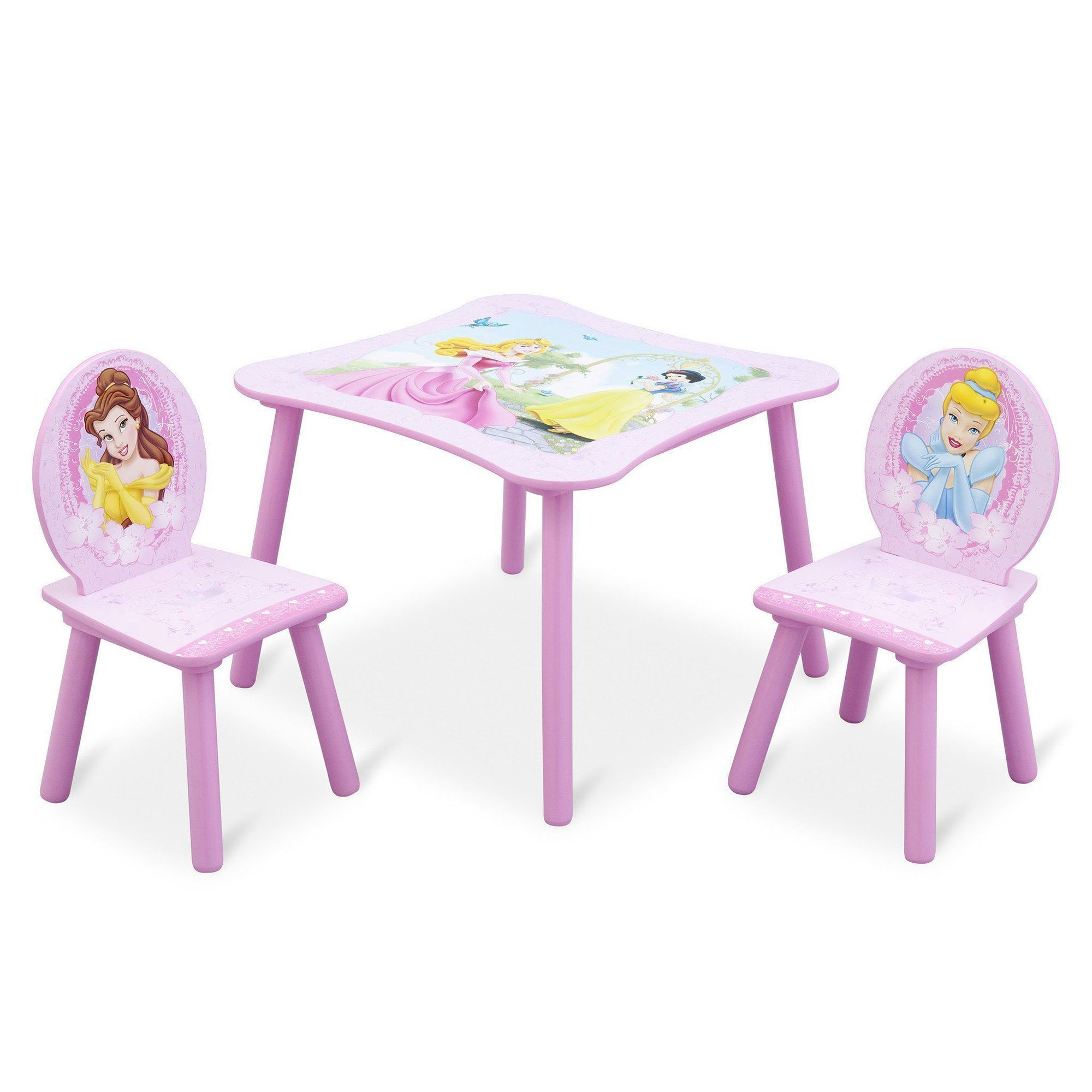toddler table and chair set stool 3d model delta children disney princess 3 piece wood pink walmart com