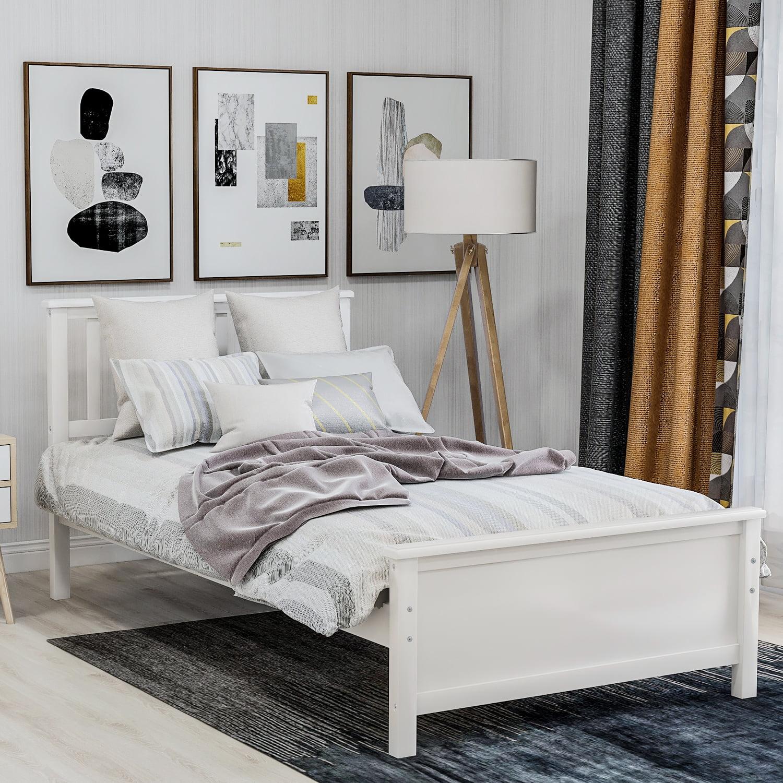 twin platform bed frame heavy duty wood twin bed frame with headboard footboard twin bed frame no box spring needed modern bedroom furniture twin