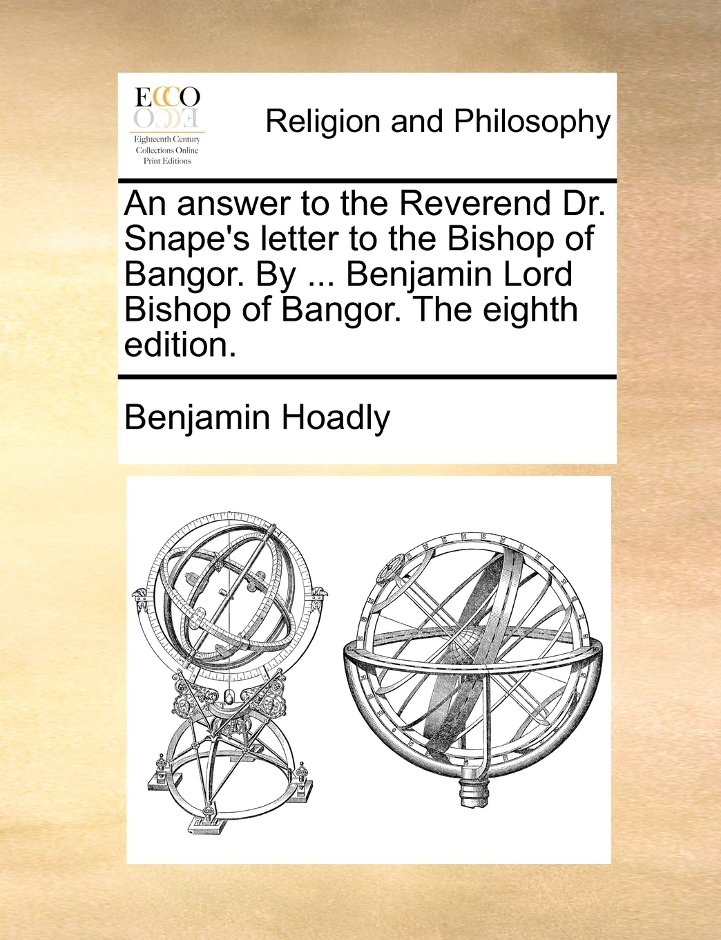 An Answer To The Reverend Dr Snape S Letter To The Bishop