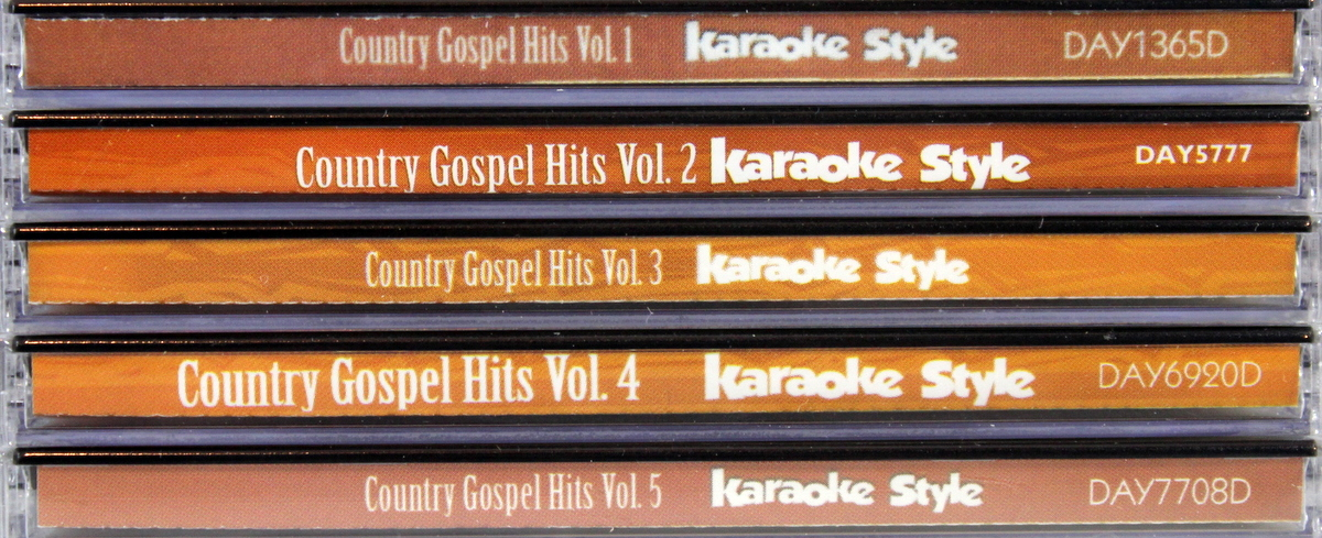 Country Gospel Hits Volumes 1-5 Karaoke Style CD+G Daywind 30 Songs