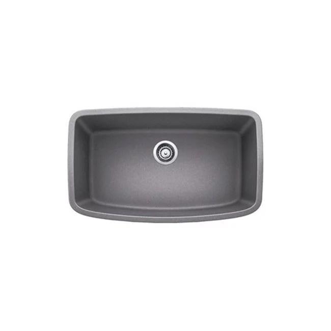 gray kitchen sink table with leaf blanco valea undermount granite 441775 metallic