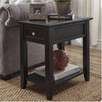 Chelsea Lane End Table with Power Outlet, Multiple Colors ...
