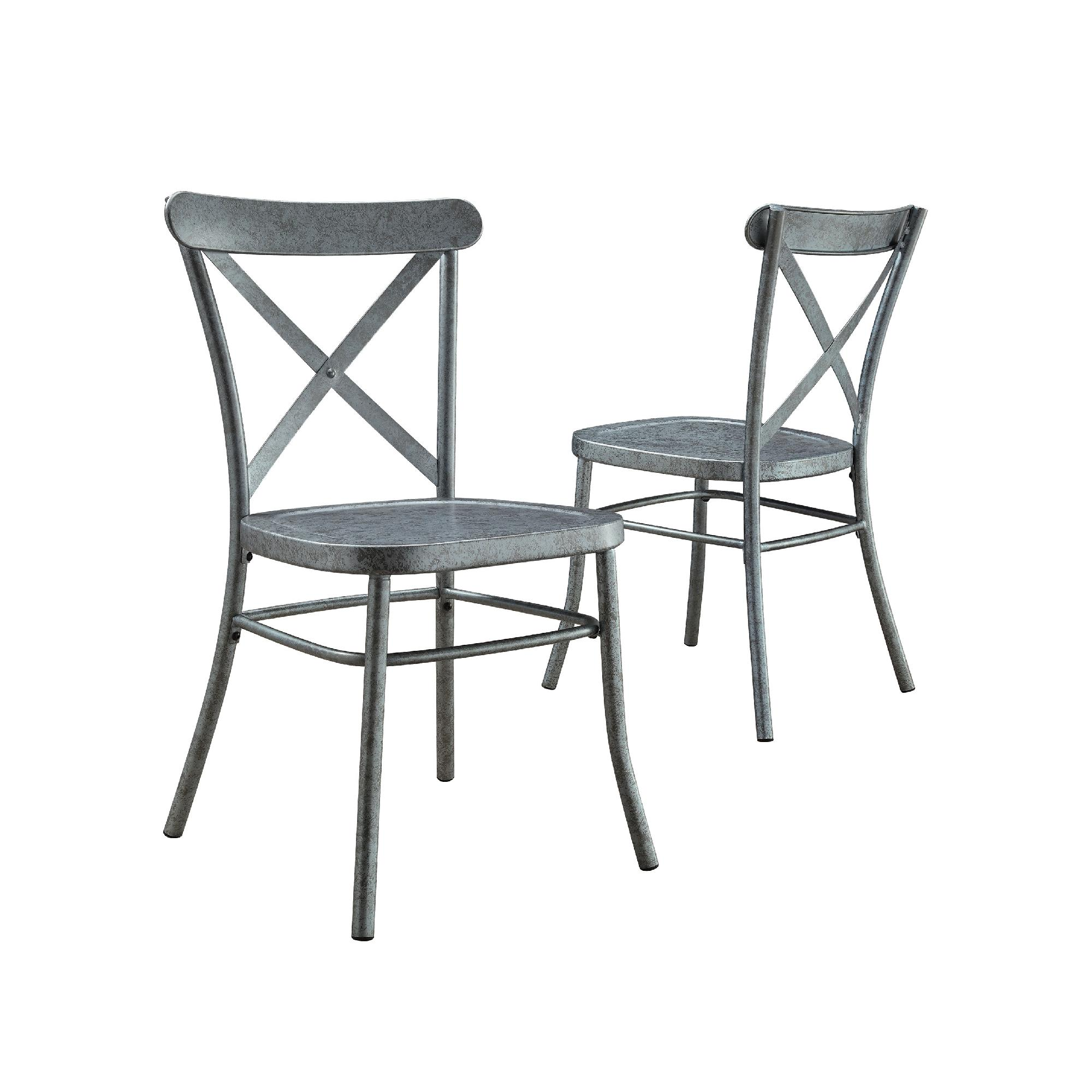 Better Homes And Gardens Collin Distressed Dining Chair Set Of 2 Multiple Finishes Walmart Com Walmart Com