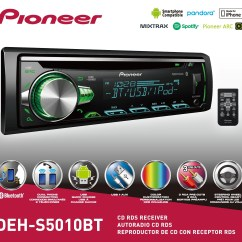 Walmart Living Room Furniture And Dining Decorating Ideas Pioneer Deh-s5010bt Bluetooth Single Cd Receiver - Walmart.com