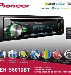 pioneer deh s5010bt cd receiver with bluetooth single din in dash walmart com [ 3010 x 2796 Pixel ]
