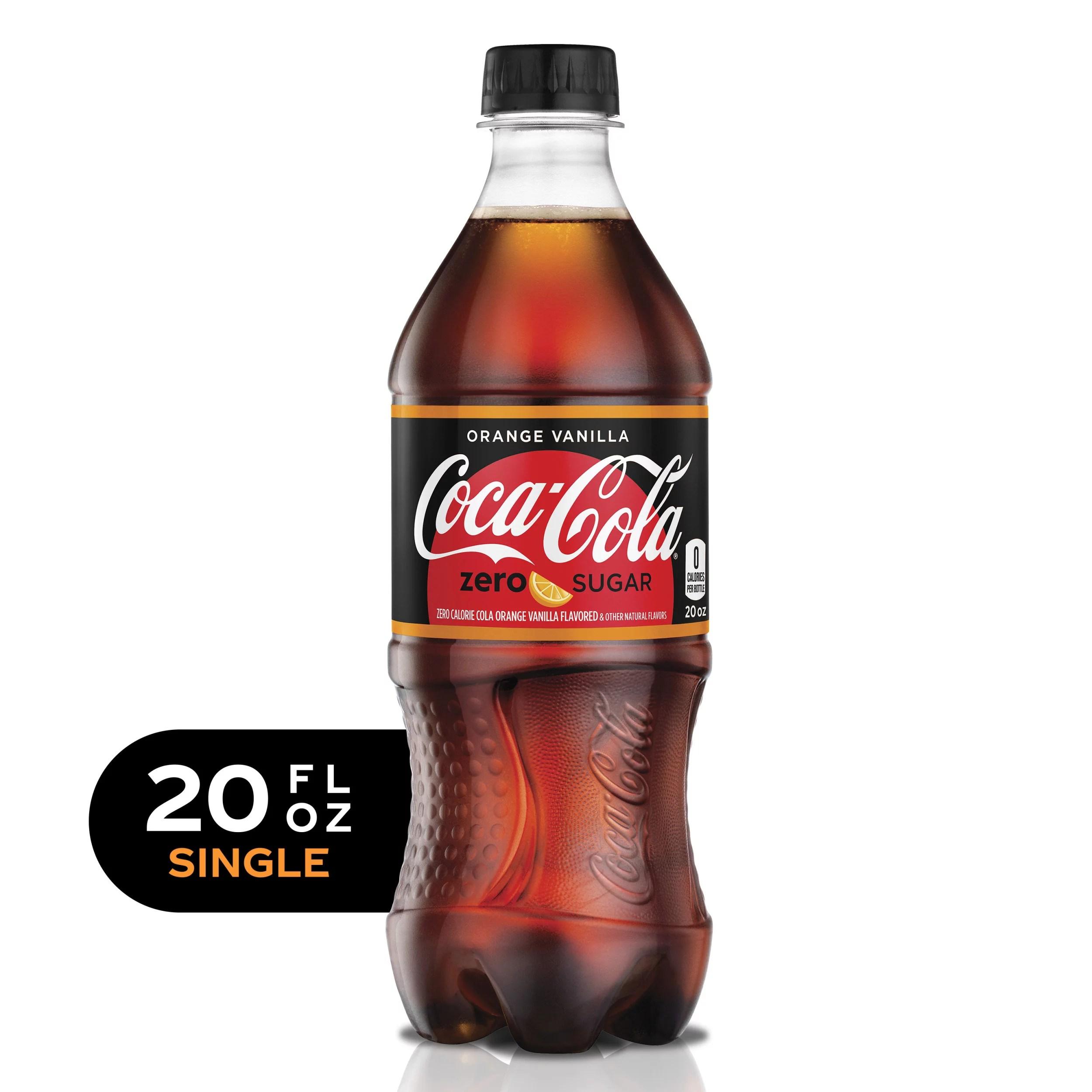 Coca-Cola Orange Vanilla Zero Sugar Diet Soda Sugar Free ...