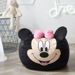 Minnie Mouse Bean Bag Chair Pillow For Eames Disney Figural Walmart Inventory