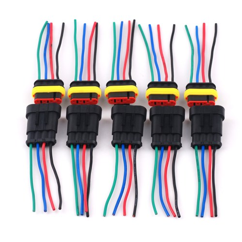 small resolution of dc12v 4 pin 4 way waterproof car motor wiring harness connectors sockets plug female male connector of 5 pack
