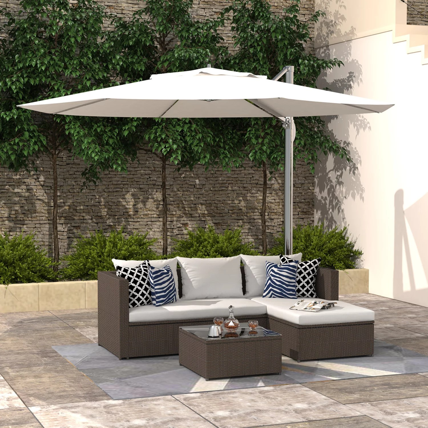 finefind outdoor sectional sofa patio furniture set all weather wicker set for backyard garden balcony or small space walmart com
