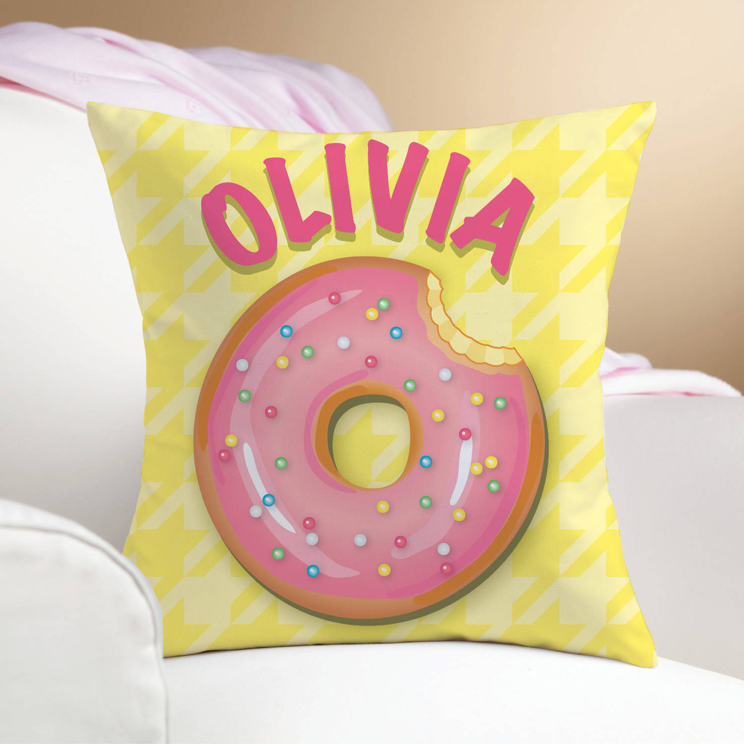 yummy donut personalize pillow